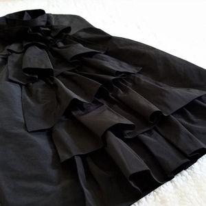 BCBGMAXAZRIA Strapless Black Taffeta Dress NWT